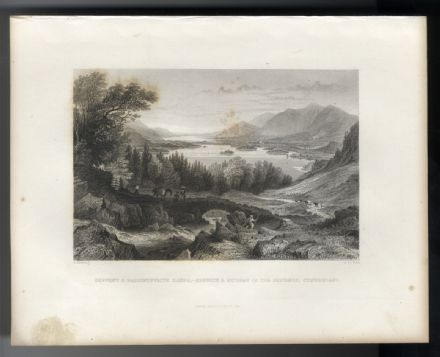 1835 Antique Print KESWICK Bassenthwaite DERWENTWATER From The Kendal Road LAKES